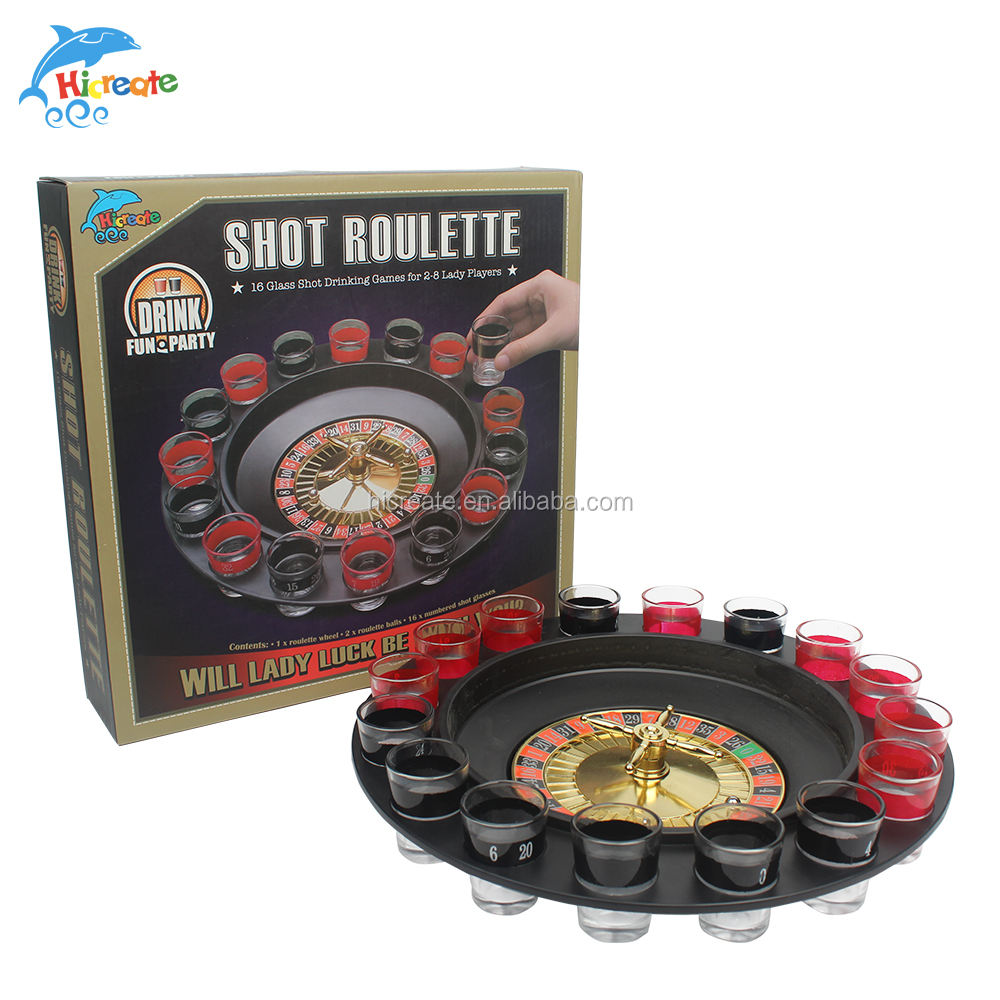 NEW ROULETTE SET ADULT DRINKING GAME SPIN N SHOT CASINO WHEEL PARTY FUN DRINK