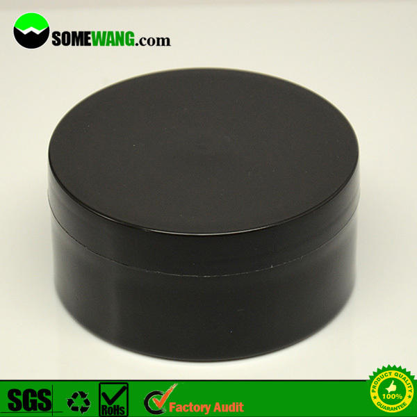 100ml black plastic face cream jar for cosmetic packaging,3.3oz empty plastic cream jar for skin care,cosmetics cream empty jar