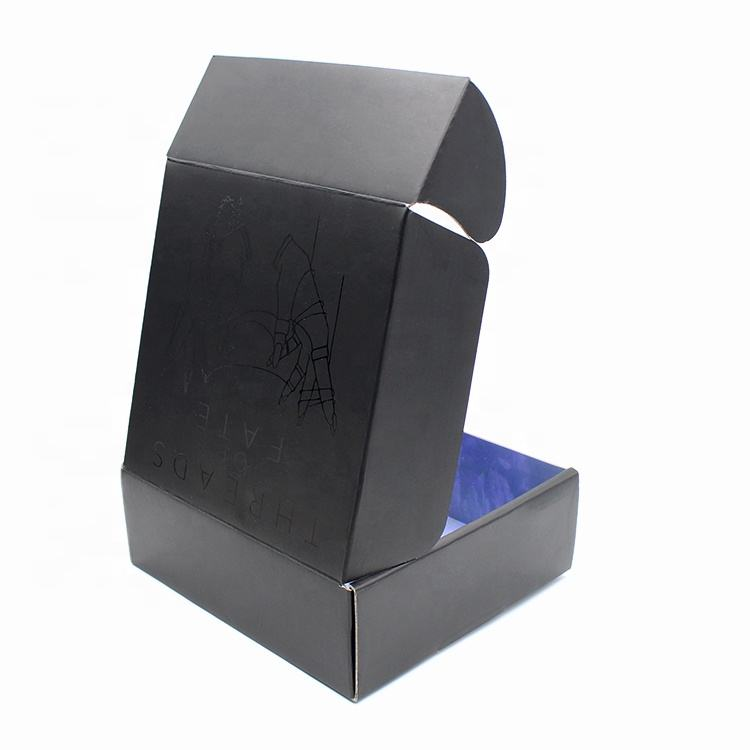 printed factory custom luxury gift black box shoe packaging Flip corrugated cardboard shipping boxes