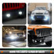 Universal Daytime Lamp Running E-mark 90mm Led Fog Lights Daytime Lamp Running Car Light Auto Lighting System With Drl
