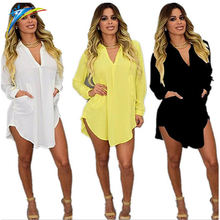 Sheer Chiffon Blouse 2020 Plus Size Women Clothing Femme Long Sleeve Autumn Shirt Casual Loose Oversized Top Chemise