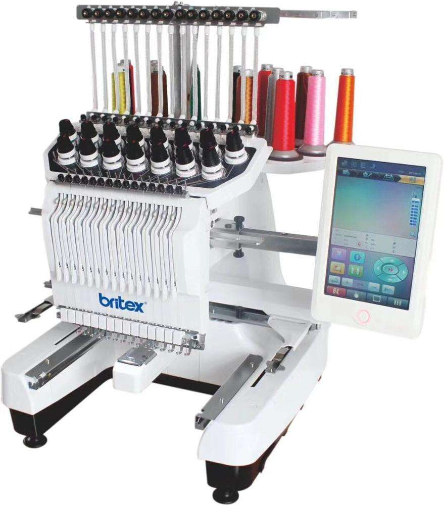BR-3620 Single Head 15 Needles China Flat T-shirt Hat Embroidery Machine Computerized Embroidery Machine