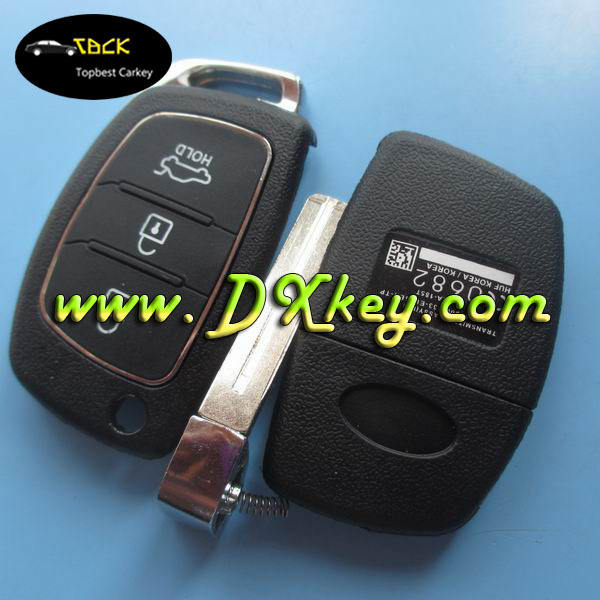 433mhz with ID46 chip auto remote key for 3 button HY smart key ix 35 remote key