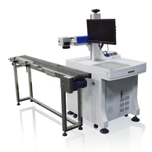 High speed flying laser marking machine for plastic bottle cover plate