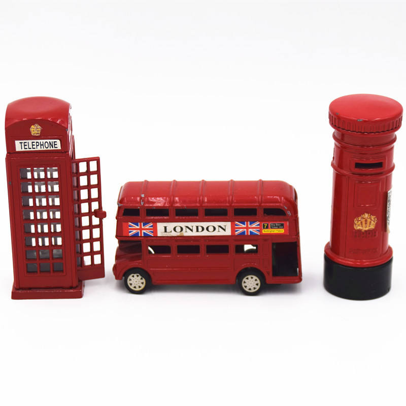 Londen Stijl Britse Model Diecast Rode Bus Messing Puntenslijper