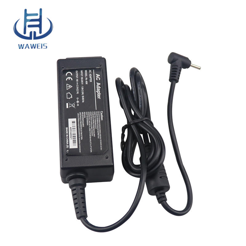 Penggantian mini laptop ac adapter 40 w charger untuk acer Aspire One 532 532 H 532G
