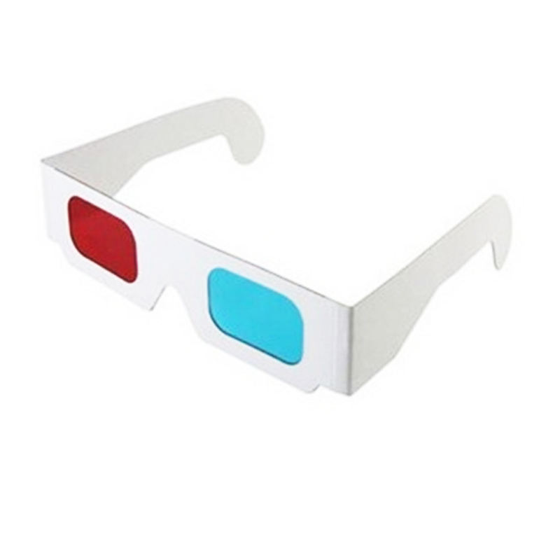 Oempromo cheap disposable red-cyan paper 3d movie glasses