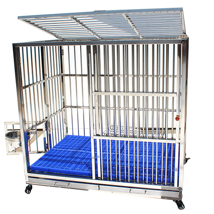 Low Price Indoor Aluminum Dog Cage With Wheels