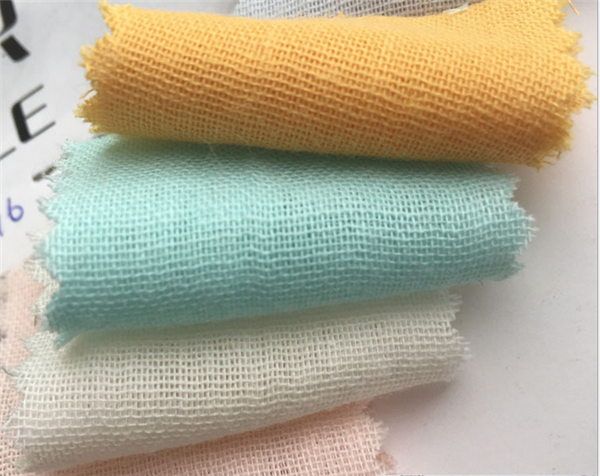 manufactory supply organic cotton double gauze fabric for baby washed gauze diaper