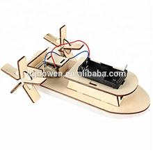 DIY Ship Toy Assembled Durable Interesting Science Toy for Kids