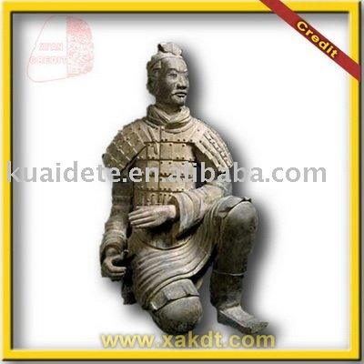 Chinese Clay Made Statue Kneeing Artcher of Qin Dynasty BMY1093