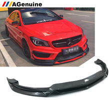 AGenuine Real carbon fiber car front lip splitters front bumper lip spoiler for mercedes-benz CLA class W117