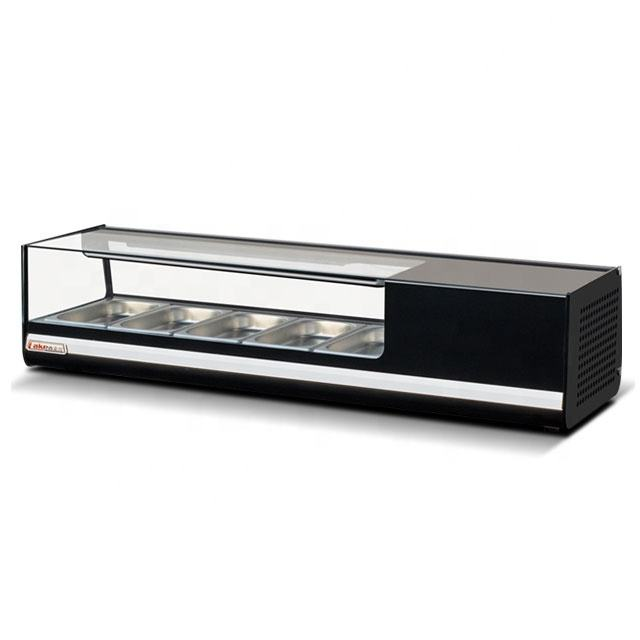 1200mm sushi showcase 45L sushi displays cold food bars counter right angle sushi cake chiler