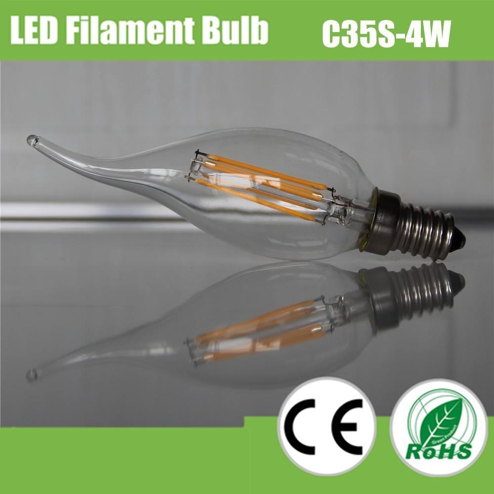 2w 240lm filament led alev uçlu <span class=keywords><strong>mum</strong></span> ışığı
