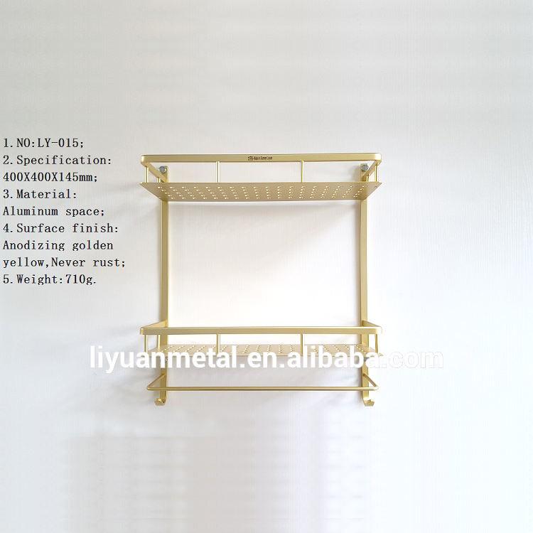 2017 xiamen оптовая стене ванной стекло Алюминиевый двойная полка