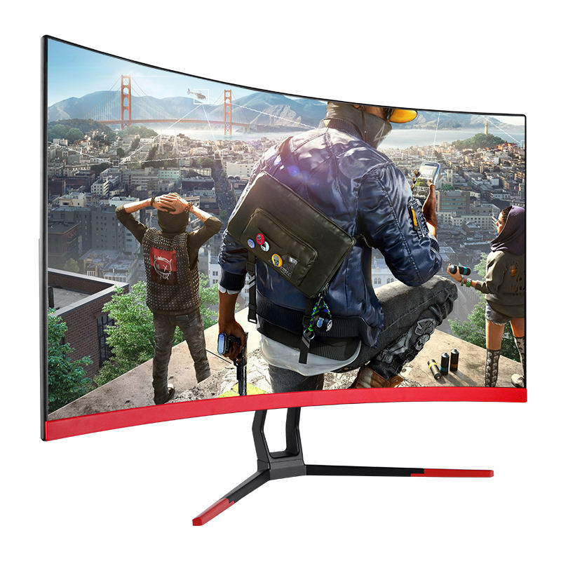 Factory wholesale 27 inch graphic design curved lcd 144hz gaming monitor