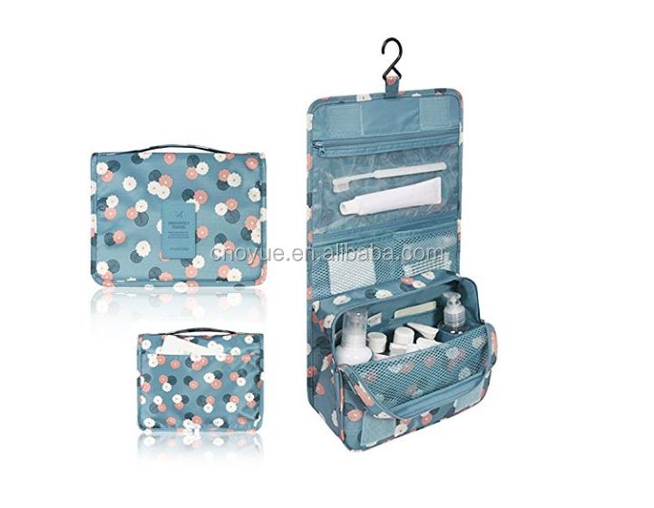 人気ファッションデザイン再使用可能洗える防水環境に優しい旅行化粧品ぶら下げトイレタリーバッグ