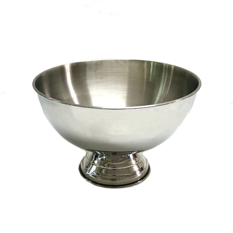 High Quality Stainless Steel Bowl Shaped Ice Bucket Pub Beer Champagne Bucket