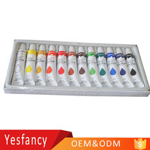 cheapest custom 12ml tube oil paint colour fast dry artist oil color with EN71 approved