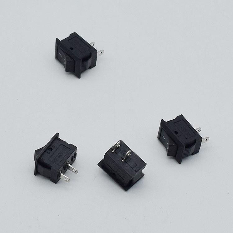 10x 10*15MM Small Black Rocker Switch KCD1-11 250VAC//3A 6A 125V AC 2P Switche YT