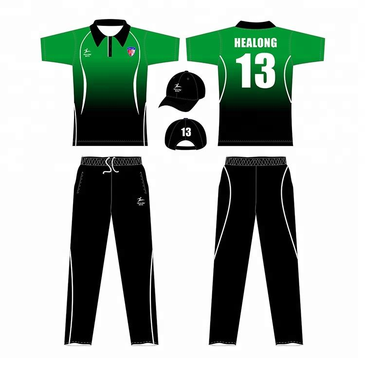 OEM Nach Maß Team Cricket Jersey Sublimation Druck Günstige Cricket Uniform
