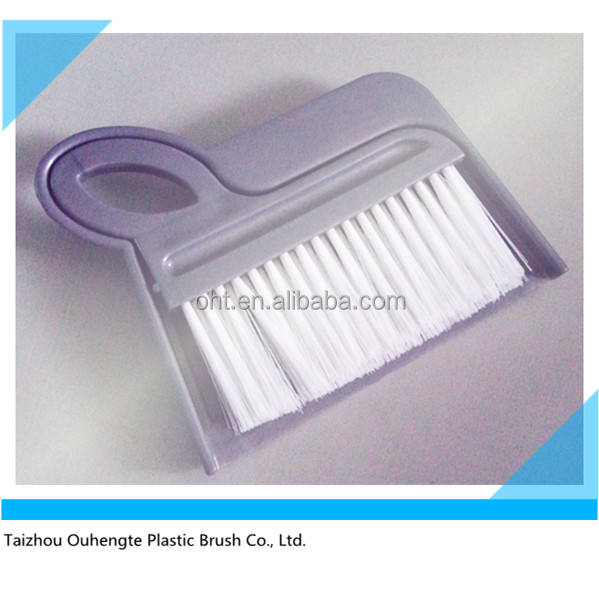 small plastic flat dustpan and brush set for table