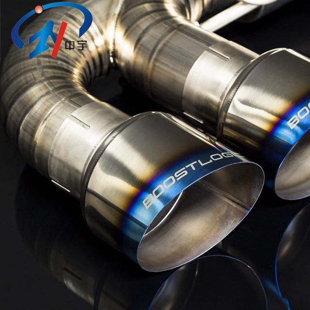 Hot sale ASTM B338 gr2 pure titanium exhaust pipe tube