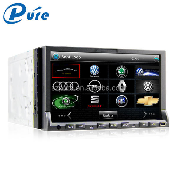 7 inch touch screen 2 din car dvd player with bluetooth,GPS,TV,3G,radio and mp3 player