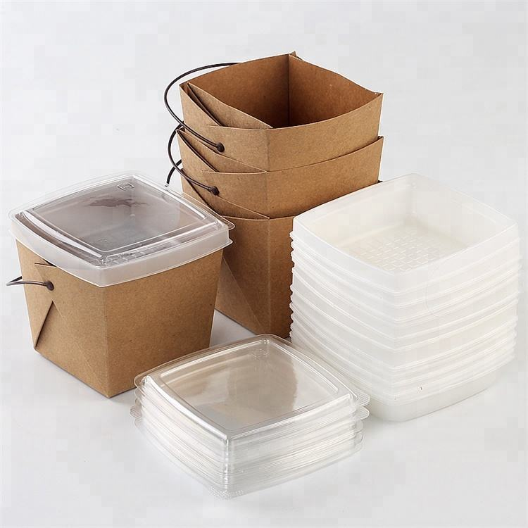 New design take away paper pasta packaging box with handle