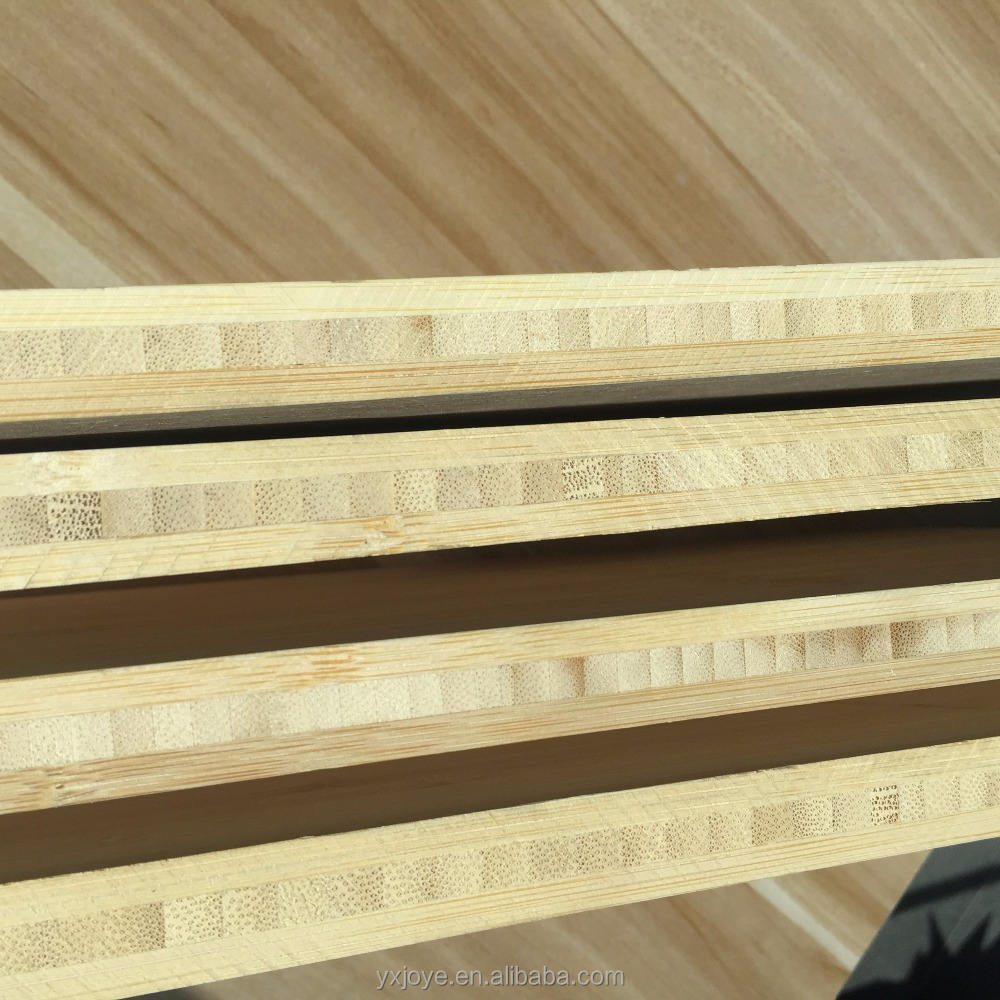 Formaldehyde free natural vertical bamboo plywood