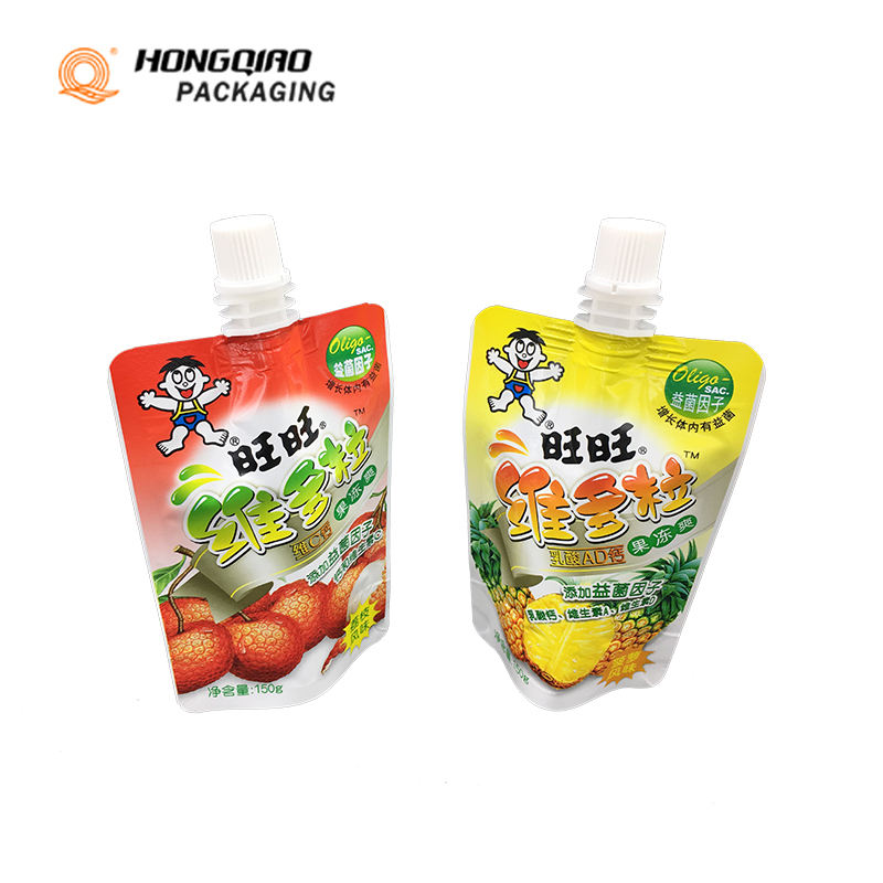 Wholesale Soft Screw spout Plastic Food Bag Spout Pouch For Baby Drinking