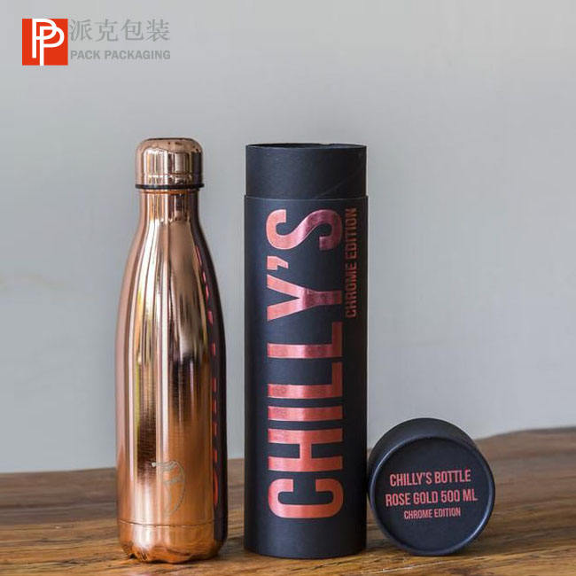 Kraft Cardboard Fancy Water Bottle Paper Tube Packaging Round Box Water Bottle / Wine Jar / Wine Cup Paper Tube