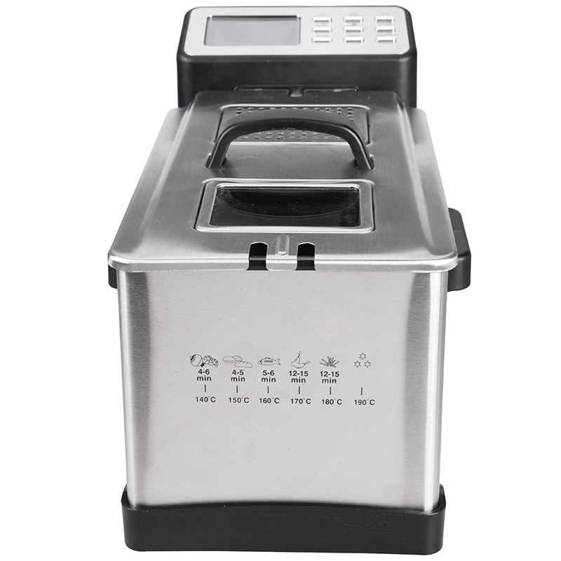 3L new stainless steel digital deep fryer