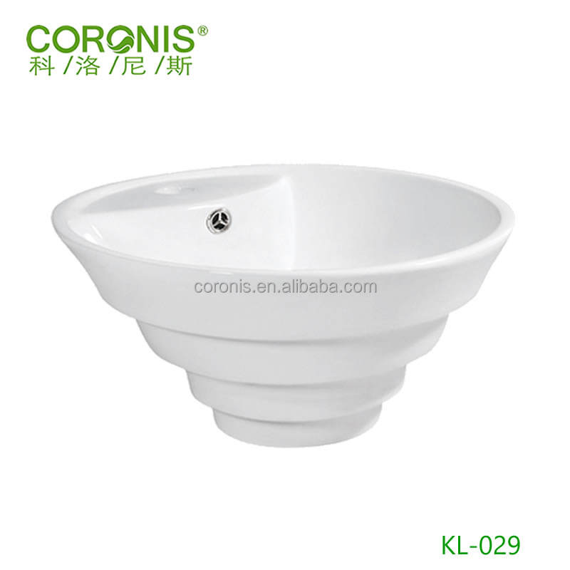 Mexican ceramic bathroom spiral designed restaurant wash basin