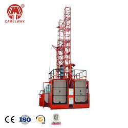 Building Construction Elevator With Double Cages,Construction Lifter hoist,Bucket Elevator