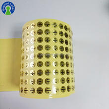Fashion Stickers Gold Sticker Logo Small Round Foil Sticker Circle Label