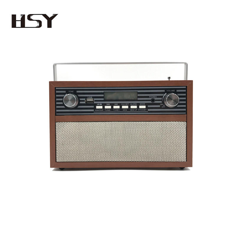 Newest Wooden Portable 18650 Lithium Battery Freesat DAB+ FM Alarm Clock Radio DAB with BT 4.0 Better Than Vintage Radio