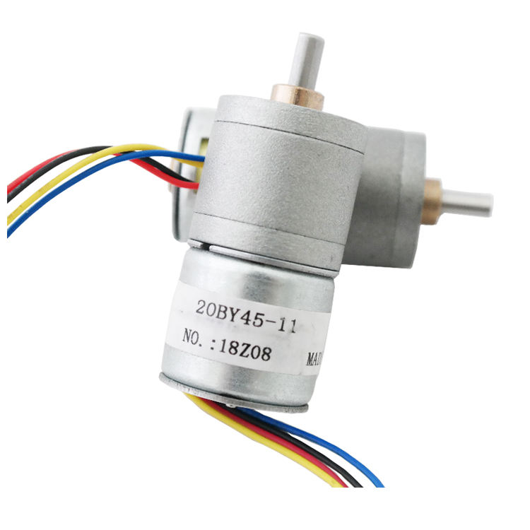 SM20-020L 5v dc geared stepper motor 20mm Micro Geared Stepper Mot 2 phase 4 wire micro geared stepper motor with Gearbox