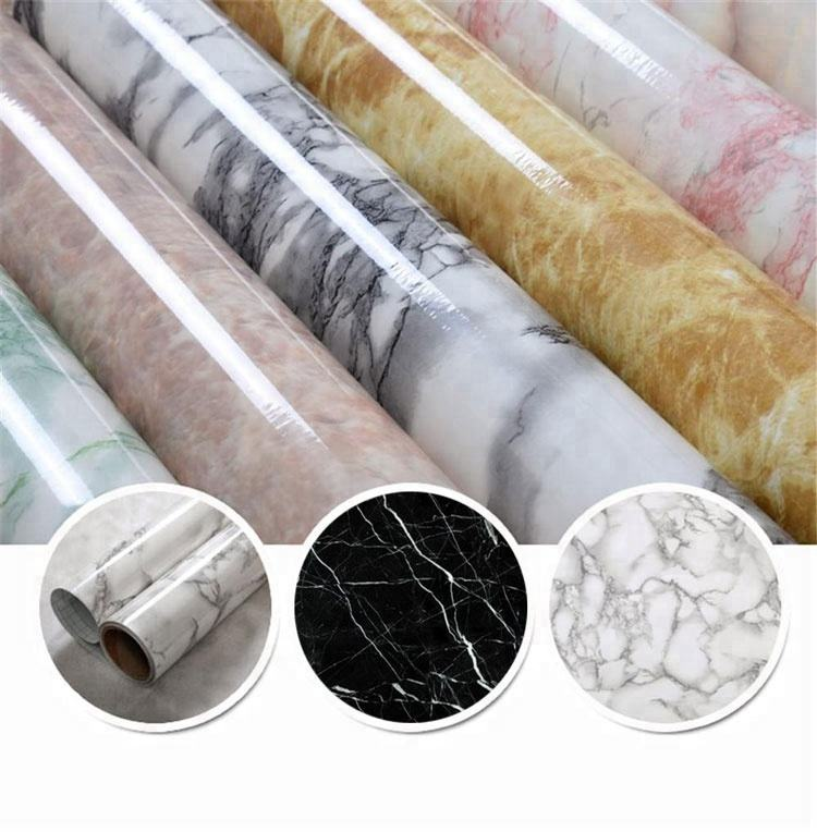 High glossy for decor Sheet marble pvc foil