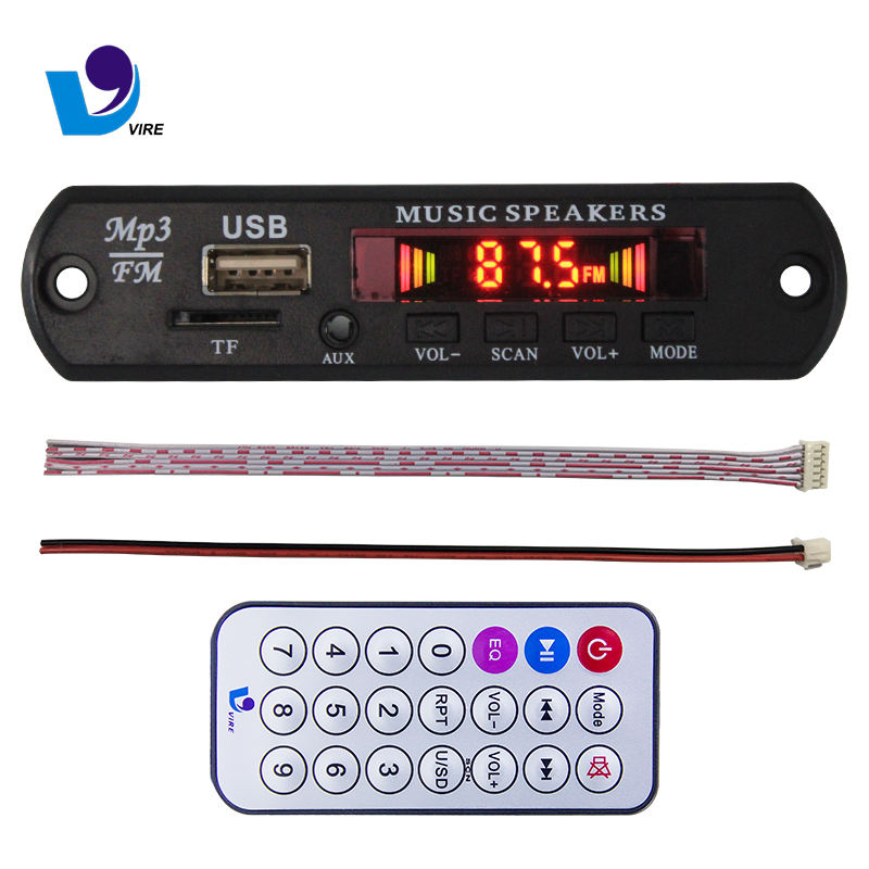 Usb Mp3 Hot Selling Usb Mp3 Player Decoder Board With LED Flash Display