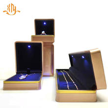 XIANGYU Custom Plastic Led Light Jewelry Ring Necklace Packaging Gift Box With Logo
