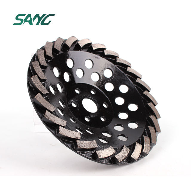 Sang turbo diamond grinding disc cup wheel grinding tools abrasive disc grinding concrete floor for angel grinder