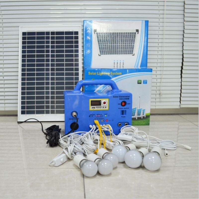 Portable home solar energy system complete package solar power system 30w for home 1kw 10W solar panel kit