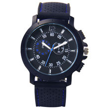 Hot Sale Geneva Silicone strap Men Sports wrist watches
