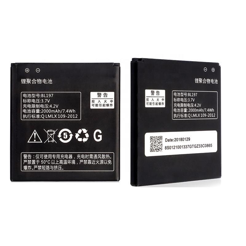 Modelo BL209 Bateria para Lenovo A378 A378T A398T A516 A706 A760 A788T A820E