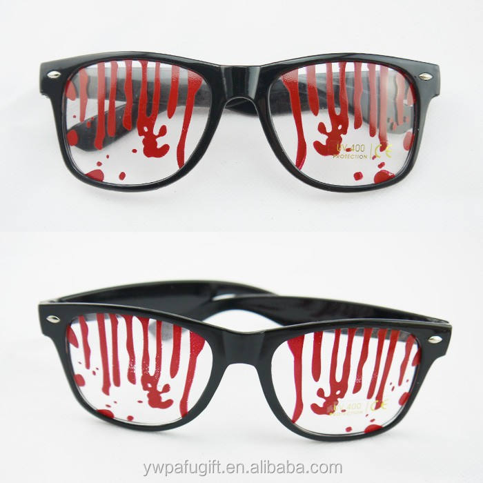 halloween party props blood party glasses