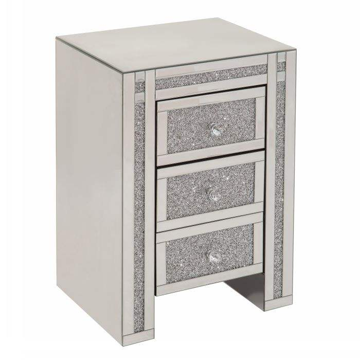 crystal crush diamond side table bedside table coffee table fire place mirror furniture