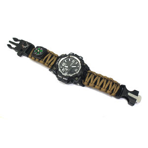 Wholesale Outdoor Survival Gear Military Green Braided Extreme emergency military Paracord survival watch