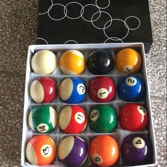 50.8mm smaller size snooker pool ball set 16pcs billiard balls 2inch diameter Pool table ball