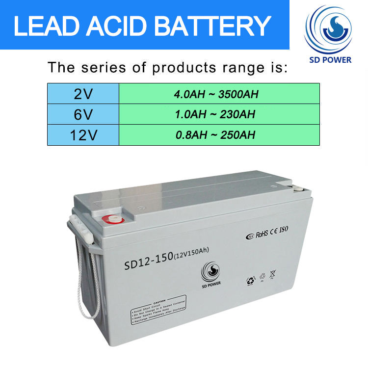 Good quality long life deep cycle solar agm 12v 150ah lead acid battery